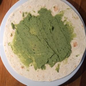pasta z bobu - wrap